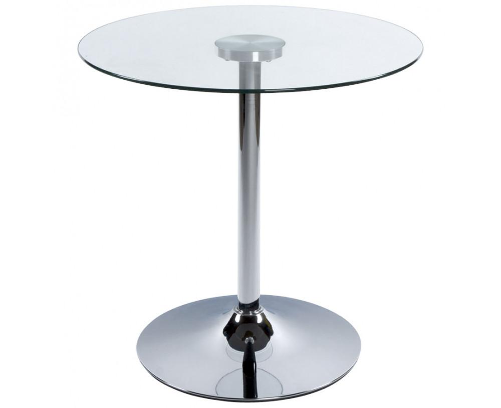glas sofabord krom