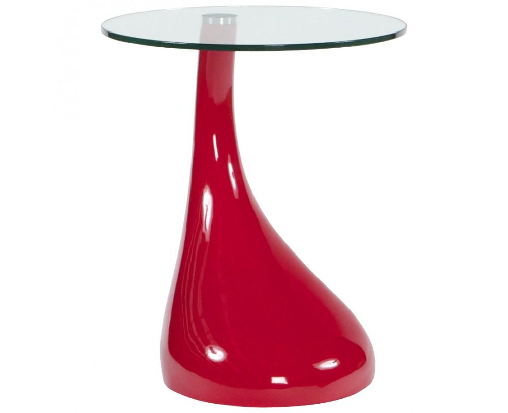 Sofabord I R 248 Dt Fiberglas Med Glas Top