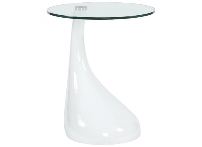 Foot - Hvidt fiberglas med glas top