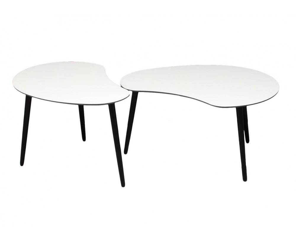 sofabord med sorte ben